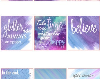 Erin Condren HORIZONTAL Quotes // Erin Condren // Planner // Stickers