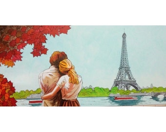 couple in love in Paris