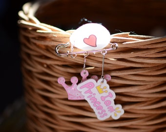 Kawaii hand made chest pin