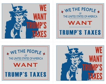 """Protest Postcards- """"We Want Your Taxes"""""""