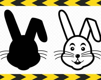 Rabbit SVG Bunny Rabbit face Scrapbook Cut files for silhouette Clipart DXF PDF Png