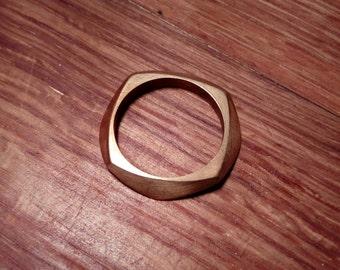 Facet ring brass