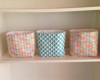 3 reversible matching baskets