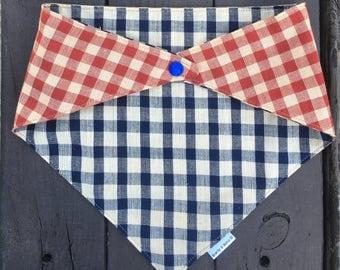 Patriotic dog bandana, american dog bandana, dog bandana, red white and blue bandana, cat bandana, checkers dog bandana, fourth of july dog