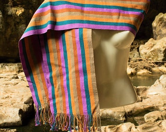 "Magnificent Hand-woven ""Te'etik"" Scarf From Oxchuc - Mexico"