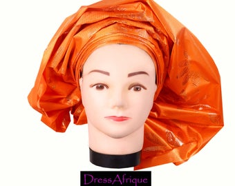 pre-tied African Gele, Ready-to wear,African print, African, Africa