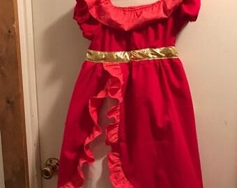 Princess Elena inspired cotton Princess Dress -- Sizes 6M-8 - Made to Order
