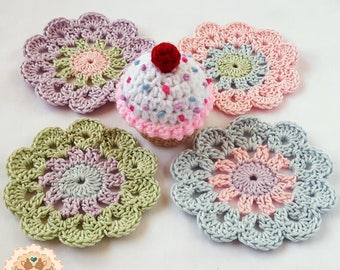 Crochet Coasters, Coasters, Flower Coasters, Crochet Table Savers, Table Savers, Mug Coasters, Decorative Coasters, Glass Coasters