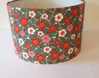 CHIYOGAMI, Japanese Paper Drum Lampshade 30cm diameter x 21cm high