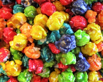 Gourmet Rainbow Candy Coated Popcorn by Its Delish (4 oz.)