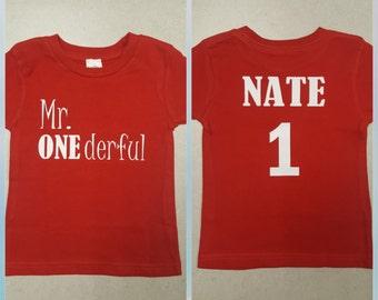 Mr. ONEderful shirt