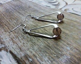 Silver Teardrop Earrings, Twisted Open Teardrop Earrings, Teardrop Wire Dangle, Statement Earrings For Wife,Girlfriend Jewelry Idea's