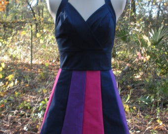 Halter Style Scalloped Mini Dress - Twilight Sparkle My Little Pony Colors - MLP Twilight Sparkle Cosplay Dress - Twilight Sparkle Costume