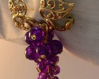 Avon Grape Cluster Brooch