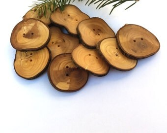 2'' Branch Buttons, Set of 10, Olive tree buttons, Handmade Wood buttons, Eco/ Natural buttons, Knitting Sewing supplies, 5 cm