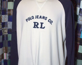 Vintage Polo Jeans Sweatshirt Unisex size XL Spell out.