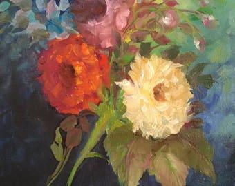 Original Oil Painting | English Roses |