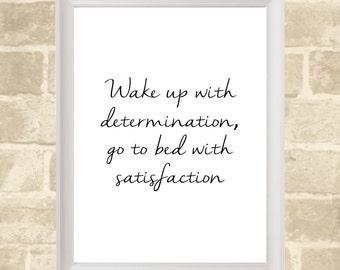 Printable Poster / Motivation Quote / Instant Digital Download / 46cm x 61cm