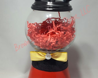 Mickey Mouse Gumball Machine, Faux Gumball Machine, Personalized Gumball Machine