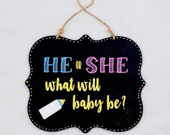 Gender Reveal and Pregnancy Announcement Plaque
