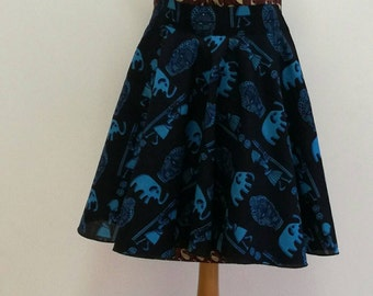 Size 38 wax skater style skirt. skater skirt made with wax size 8