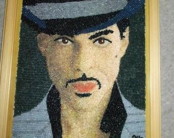 prince portrait handmade seed beads