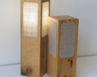 Reclaimed Barn Beam Table Lamp, Modern Minimalist