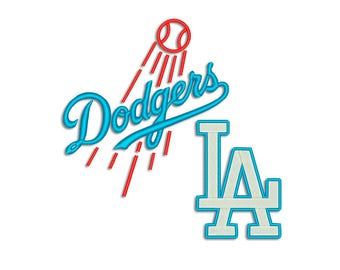 Dodgers embroidery design - Machine embroidery design