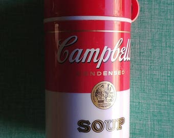 Campbell's Soup Thermos from 1990s. A Vintage Thermos with Vintage Style! Soup Mug - Kitchy Kitchen Decor - Lunchbox - Unique Gifts - Style