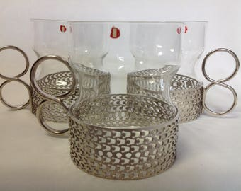 Set 6 Vintage Iittala Tsaikka Tea / Punch Bowl Glasses Timo Sarpaneva