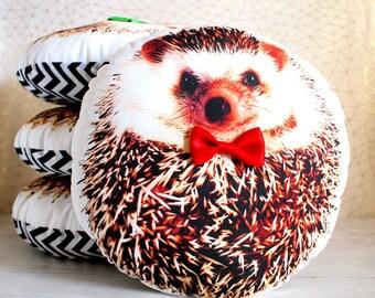 Cute hedgehog stuffed animal, Hedgehog gift ideas, Hedgehog presents, Gift for hedgehog lover, Hedgehog plush, Unique baby gift ideas, RED