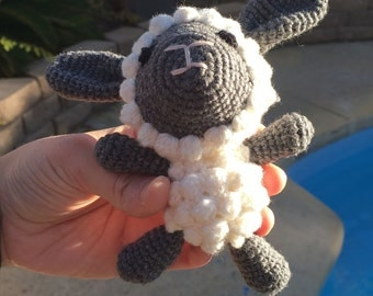 Knitted Cute Sheep Doll - Handmade Unique Stuffed Toy