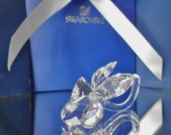 Swarovski Silver Crystal~Four Leaf Clover ~ 212101-Designer Anton Hirzinger-1997-Swarovski Crystals-Lady Luck-4 Leaf Clover-Vintage Crystal