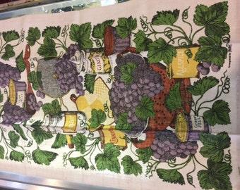 Vintage screen print kitchen towel