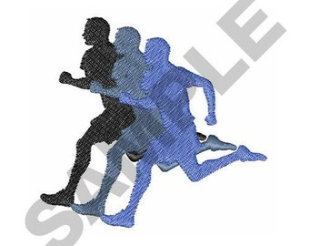 Male Runner - Machine Embroidery Design