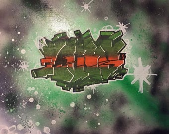 Custom Made Names on Canvas