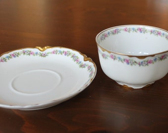 Haviland and Co limoges cup and saucer