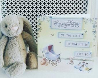 Baby boy card. Baby girl card, New baby card, blue boy baby, pink baby girl, congratulations card, it's a boy card, it's a girl card.