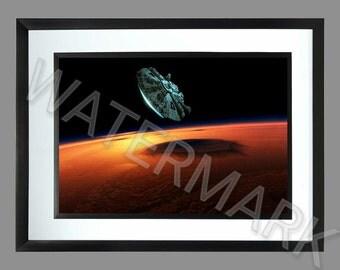 Star Wars Millennium Falcon . A3 Print . Poster