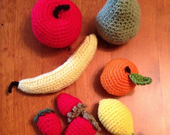 Crocheted Fruit Set