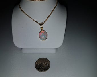 Now this is a VERY nice Coober Pedy Solid Opal 1.6ct pendant is hand made rubbed in setting!