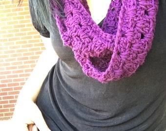 Grape Crocheted Infinity Scarf