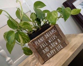 Plant Box, Flower Box, Wood Vase