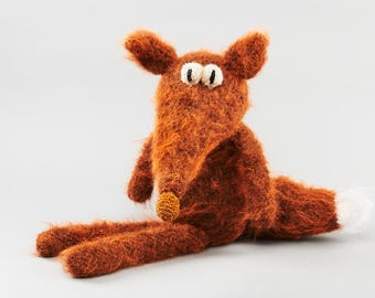 Fox, Handmade wool animal figure