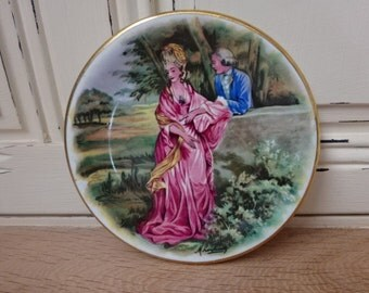 Vintage Decorative Plate by Pall Mall Ware of London. Courting Couple Scenes