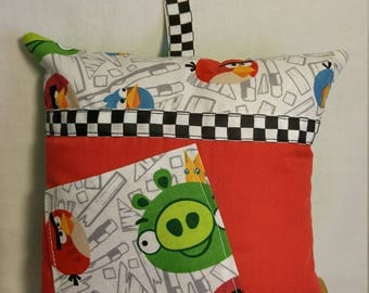 Angry Birds Hand Made Tooth Fairy Pillow for Boys - gift for him; birthday; christmas; boy's room decor