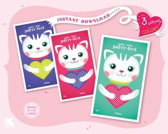 Printable Purrr-fect Cards