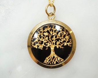 Tree Of Life Pendant, Tree Of life Necklace, Gold Leaf, Gold, Tree of life Jewellery, Australian Souvenirs, Gifts,