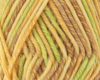 Chunky Melody Parrot Green Purple Orange Yellow Wool Blend Yarn Bulky 100g/skein