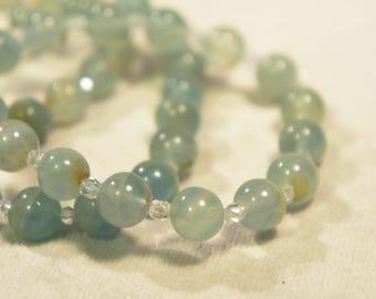 Genuine Celestite Bracelet Semi Precious Stone Gemstone Healing Crystal Chakra Metaphysical Gift